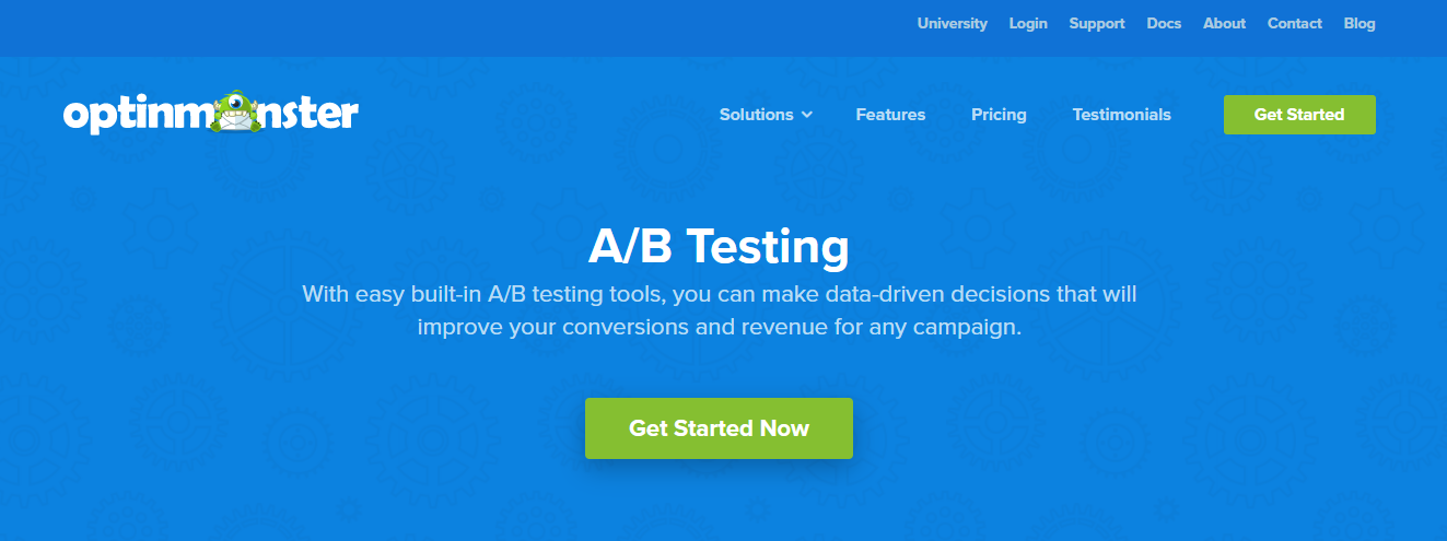 OptinMonster A/B testing feature
