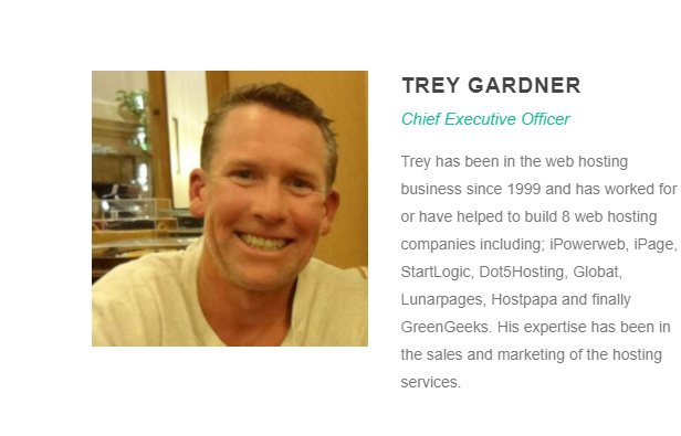 Trey Gardner owns GreenGeeks
