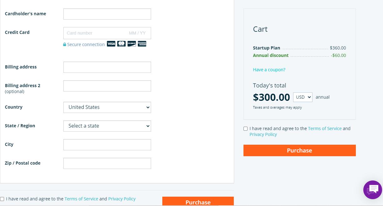 WPEngine hosting checkout