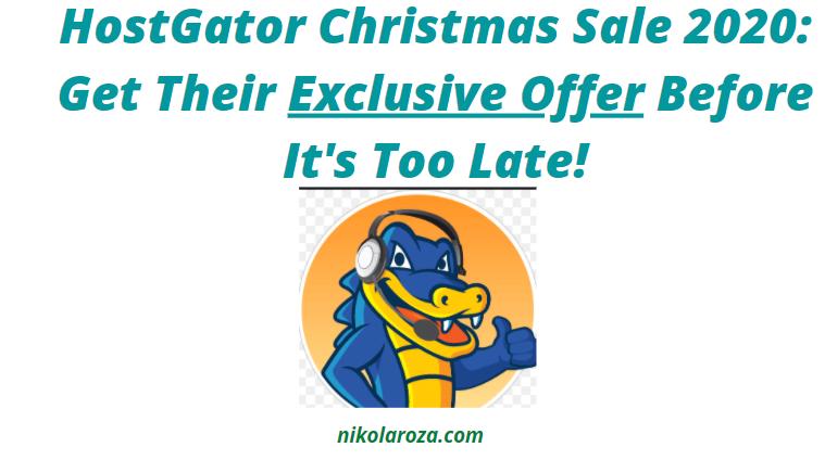 HostGator Christmas Sale and Offer 2020