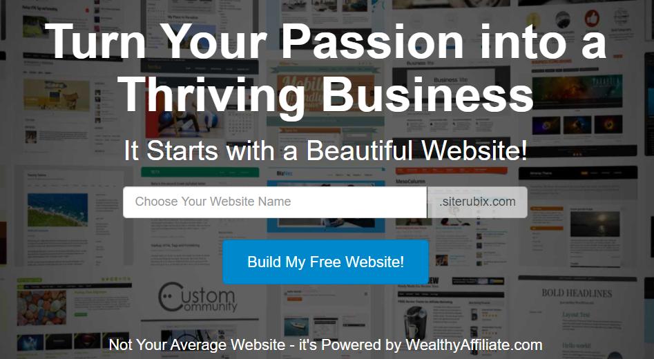 SiteRubix free website builder
