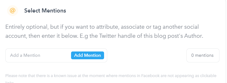 Missinglettr mention feature