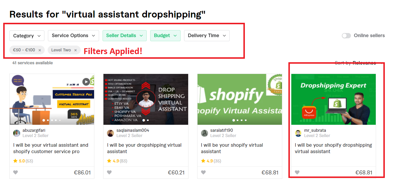 Fiverr dropshipping virtual assistant