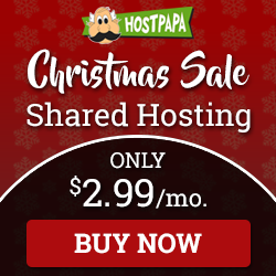 HostPapa Christmas sale