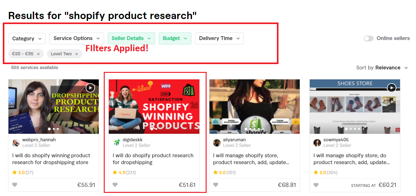Shopify product research