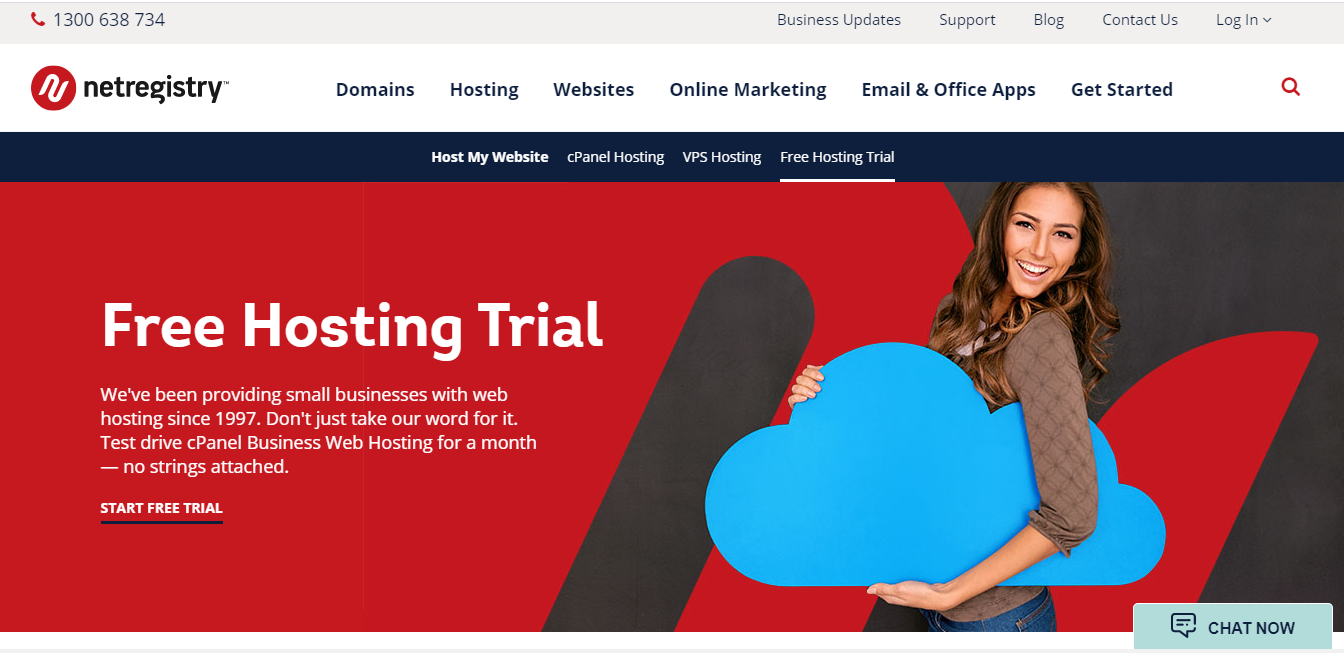 Netregistry free trial hosting for 30 days