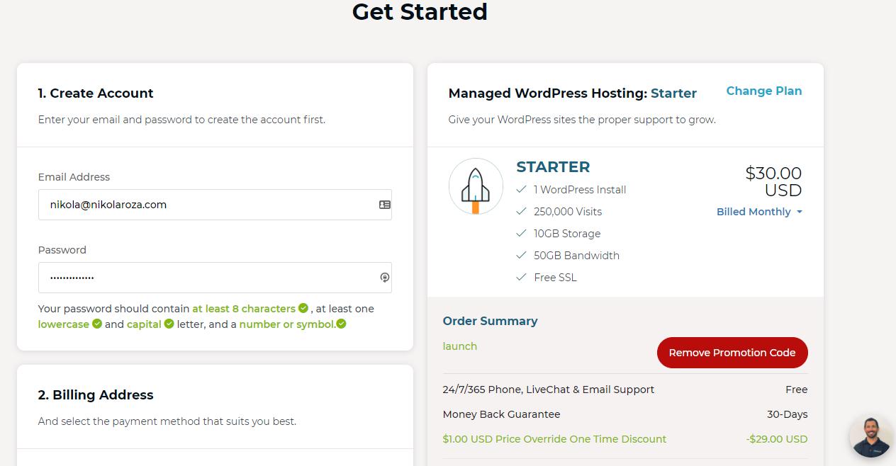 Rocketnet checkout page