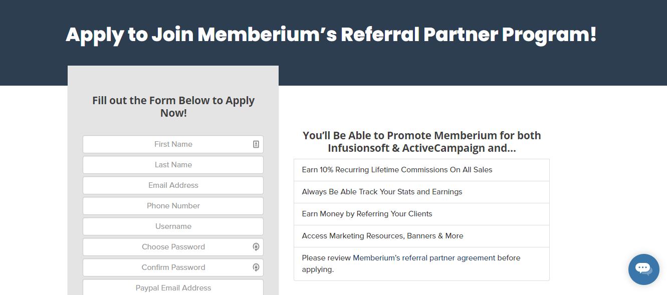 Memberium affiliate program