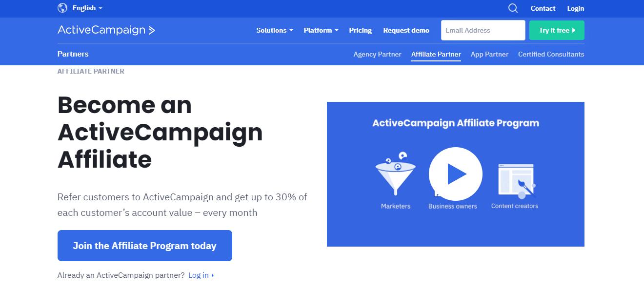 Active Campaign affiliate program