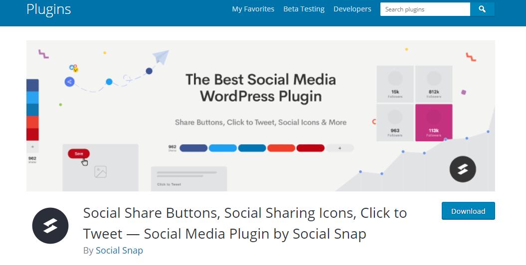 Social snap plugin